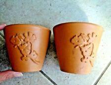 Pots marrons pour plante