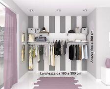 Cabina armadio, armadio a muro. Allestimento negozio.  Alluminio di qualità