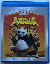 NEW DREAMWORKS KUNG FU PANDA 3D/2D BLU RAY DVD 2 DISC SET FREE WORLD SHIPPING