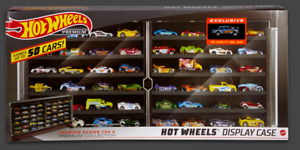 HOT WHEELS PREMIUM DISPLAY CASE + EXCL '55 CHEVY BEL AIR GASSER - NEW IN BOX (*)