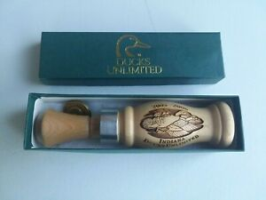 SIGNED JOE BUCHER SIGNED #22 DUCKS UNLIMITED DUCK CALL 2005-2006 INDIANA IN BOX