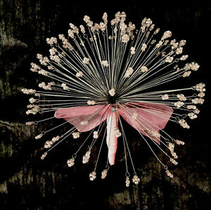 Pale Pink Crystal AB Faceted Bead wedding bouquet for brides & bridesmaids