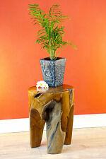 Root Stool Solid Wood Flower Stand 3 Leg Teak Wood Podium Plant Stand Round