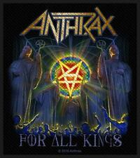 OFFICIAL LICENSED - ANTHRAX - FOR ALL KINGS SEW-ON PATCH THRASH METAL