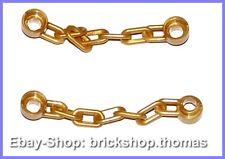 LEGO 2 x chaîne avec 5 chaînes membres Gold - 92338-Chain, 5 liens-Neuf/New