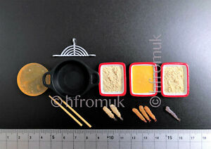 Re-ment Vintage Japanese Kitchen food accessories Frying dollhouse miniature