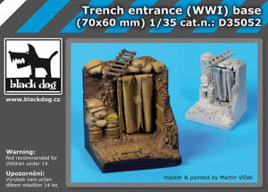 BLACK DOG TRENCH ENTRANCE WWI BASE 1:35 D35052