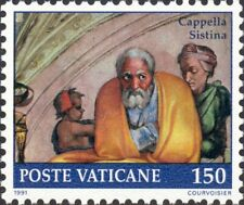VATICAN CITY -1991- Restoration of Sistine Chapel - MNH Art Fresco Stamp - #872