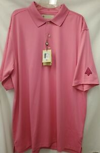 DONALD ROSS Golf s/s moisture WICKING polo Shirt Sz XL AZALEA  EDGEWOOD VALLEY