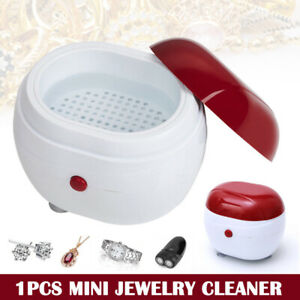 Ultrasonic Mini Jewelry Cleaner Gold Silver Necklace Rings Watch Coins Cleaning