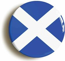 SCOTLAND BADGE BUTTON PIN (Size is 1inch/25mm diameter) ST ANDREWS CROSS SALTIRE