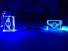 Crystal LED Laser Key Ring MINI COOPER Logo Blue