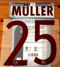 2016-17 Bayern UCL 3rd Lejos Camiseta Muller #25 sportingid Fútbol Nombre Número Set