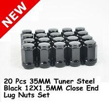 20 Pcs 35MM Tuner Steel Black Close End Wheel Lug Nuts 12X1.5 | Toyota Lexus