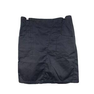 Kathmandu Womens Skirt Size 8 Grey A-Line Zip Closure Pockets Cargo 6.34