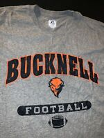 Russell Bucknell Bison Collage Football shirt Size L Large Athletics Gray
