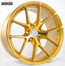 18X9 +30 AodHan LS007 5X100 Gold Wheel Fits SCION TC XD FR-S GT86 Wrx Concave