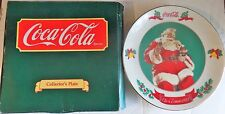 COCA COLA collector's plate assiette père noël santa claus 1990