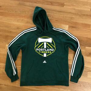 Adidas Portland Oregon Timbers Soccer MLS Pullover Sweater Hoodie Men's Medium M