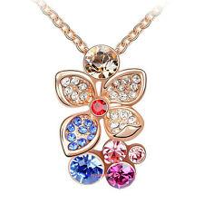Collana Donna Cristallo Swarovski Elements Fiore Multicolore A51