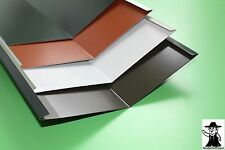 Kehlblech Kehle Dachblech Alu Aluminium farbig 2 m lang  0,7 mm stark