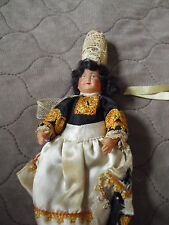 """Vintage 1940s France Celluloid Character Girl Doll 5"""" Tall"""