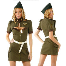 Fashion Women's Police Cop Costume Fancy Dress Outfit Sailor Cosplay Partywear