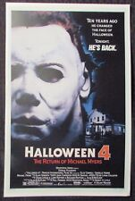 "HALLOWEEN 4 11x17"" Mini Movie Poster VF 8.0 The Return of Michael Myers"