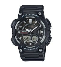 Casio Watch * AEQ110W-1AV Telememo World Time Black COD PayPal Ivanandsophia