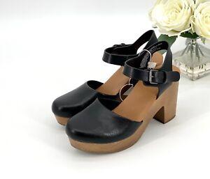 NEW Marcia Heeled Clog Pumps Women's Size 9.5 Shoe Black Universal Thread