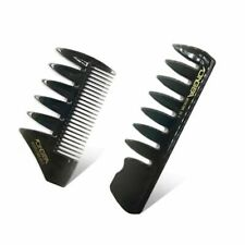 Men Vintage Oil Head Comb New Head Shape Partner Comb Wide Tooth Fork Comb Back
