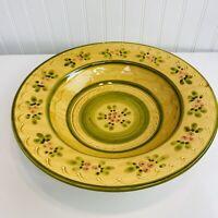 "Williams-Sonoma Ceramiche Toscane 14"" Large Pasta Serving Bowl Hand Made Italy"