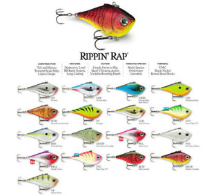 Rapala Rippin Rap // RPR05 // 5cm 9g Fishing Lures (Choice of Colors)
