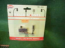 N Scale Model Power 8562 1 Brass 3 Lite Traffic Signal 4way Slide Switch - NEW