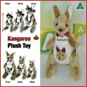 Kangaroo Stuffed Soft Plush Toys Gift Souvenir Kids Baby Animal Dolls Australian