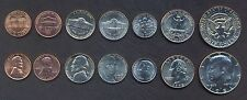 USA FULL COIN SET 1+1+5+5+10+25+50 Cents (Half Dollar) 1961-2015 UNC LOT of 7
