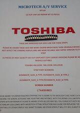 TOSHIBA  40L1333B  40L1353B  40L1354B  25 PIECES LED REPAIR KIT  SEE ADVERT