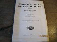 Carte géologique du Congo Belge FOURMARIER 1930