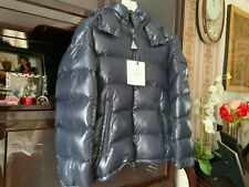 MONCLER  MAYA  Shiny Puffer Men Jacket w/hood Navy color, Size 3 (M/L)