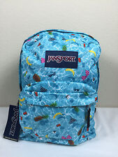 2016 Jansport Superbreak Backpack Multi Pool Party  AUTHENTIC School backpack