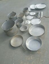 Vintage Camping Hiking Aluminum Nesting Cookware 20 Piece Set - Used