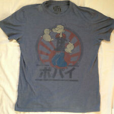 POPEYE WORN RITE T-SHIRT MEDIUM BLUE ORIGINAL MERCHANDISE