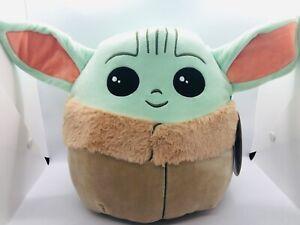 "Squishmallow Baby Yoda 10"" Star Wars Soft Plush Toy"