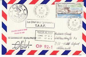 Polarpost - Antarctique Français Antarctique Taaf Beleg #16