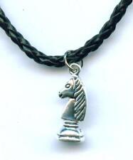 Halskette Schach Springer Pferd Necklace Chess Knight Anhänger