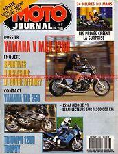 MOTO JOURNAL  986 Essai Road Test YAMAHA 1200 Vmax TZR 250 Triumph Trophy HVA