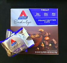 60 ATKINS TREATs PEANUT BUTTER CUPs 2G NET CARBs 0G SUGAR 4G FIBER  WEIGHT LOSS