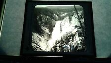 VINTAGE COLLECTIBLE GLASS PICTURE NEGATIVE FROM PT. LOOKOUT YELLOWSTONE PARK
