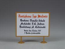 TOP: Wiking Zubehör großes Bauschild Fertighaus Typ Malente