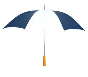 """All-Weather 39"""" Umbrella -- Grey and White Stripes"""